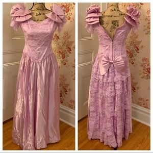 Vintage Lilac Purple Prom Dress